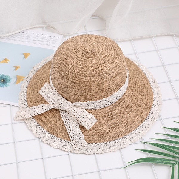 2019 Women Summer Hat Beach Straw Hat Panama Ladies Cap Fashionable Handmade Casual Bowknot Sun Hats for Women Gorras casquette