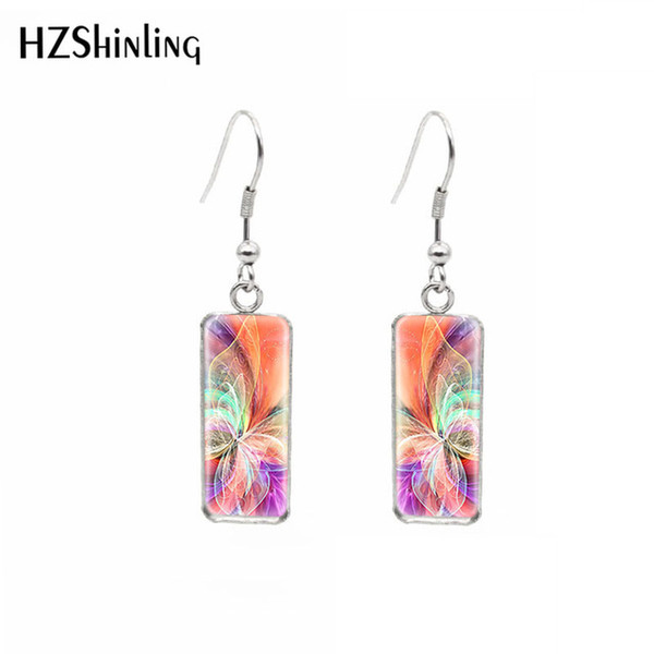 Hot selling Stainless Steel Square Fish Hook Earring Butterfly Earrings Square Butterfly EarringsSummer Accessory Pierced Ears