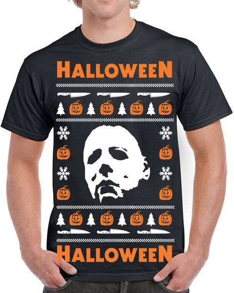 Details zu 650 Halloween Mens t-shirt Ugly christmas sweater slasher costume horror movie Funny free shipping Unisex