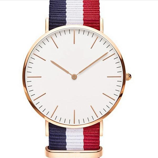 Hot Sale Nylon strap Style Quartz Men Watch Top Brand Watches Fashion Casual Fashion Wrist Watch Relojes 40mm
