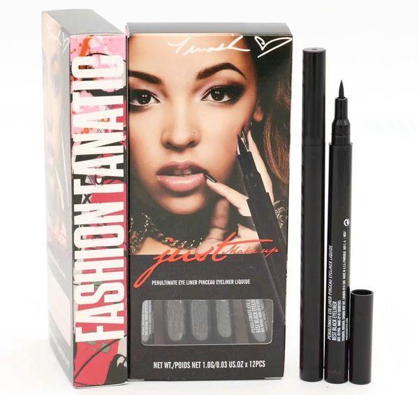 top popular HOT SELLING Eyeliner Pencil liquid EyeLiner Waterproof Cosmetics Free Shipping 24pcs lot 2021