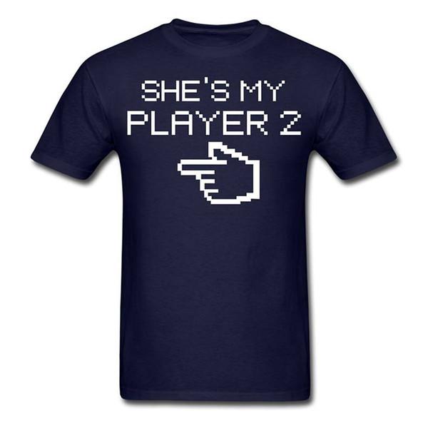 Wholesale T Shirts Comfort Soft Short Sleeve Player 2 Gamer Shirt For Men