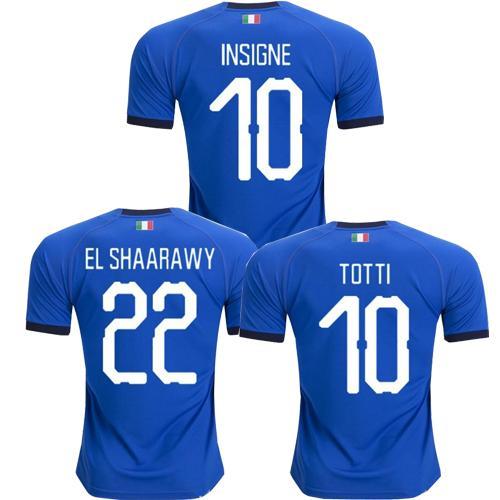 2019 italie maillot de foot 2018 CHIELLINI INSIGNE maillot de football italie INSIGNE Camiseta de futbol BERNARDESCHI TOTTI maillot de foot
