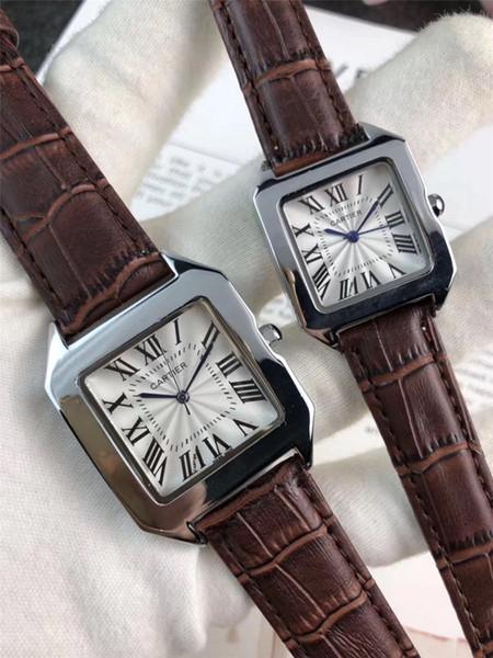 2019 Ultimi indici di marca Dial Lover's Modern Watches Finemente lavorato cinturino in pelle movimento orologio impermeabile quarzo ragazza regalo CT