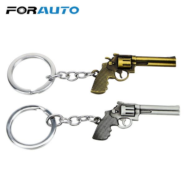 Tabanca Model Araba Anahtarlık Oto Aksesuarları Revolver Anahtar Yüzükler Serin çanta Çanta Kolye Araba Styling Çinko Alaşım Oyuncak Tabanca Anahtarlık
