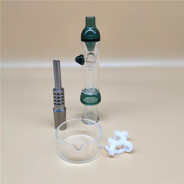 Künstlerische Stil OD 1INCH Mini Nectar Collectors Set passend für Titan Tip Titanium Nägel 14mm Inverted Nail Honig Straw Glasbongs jj