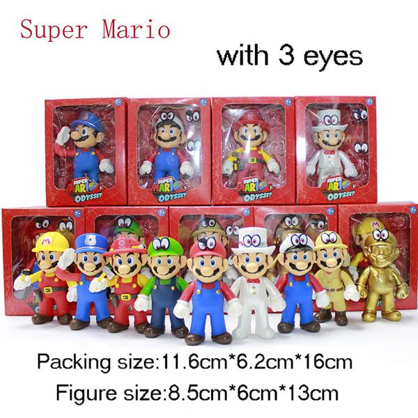 Compre Mario Calcula Los Juguetes Originales De Mario Bros Bowser Koopa Luigi Yoshi Mario Fabricante Odyssey Pvc Figura De Accion De Juguete Munecas