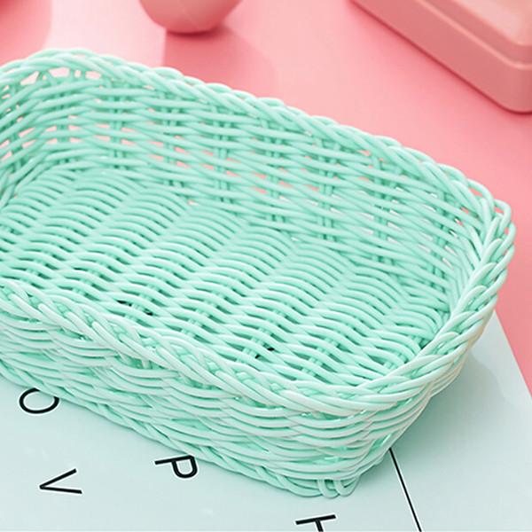Preparation Storage Basket Desktop Debris Basket Control Photo Props for Home Storage Decoration Sweet Color wh0262