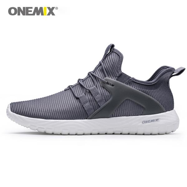 ONEMIX 2018 homens tênis mulheres sneakers super leve alta sola macia elástica para caminhada ao ar livre sapatos de caminhada # 165711