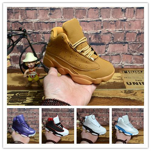 (BOX) New style arrival 13 Kids Basketball Shoes Children 13s High Quality Sports Shoes Kids Hiking Shoes Basketball Sale le size28-35