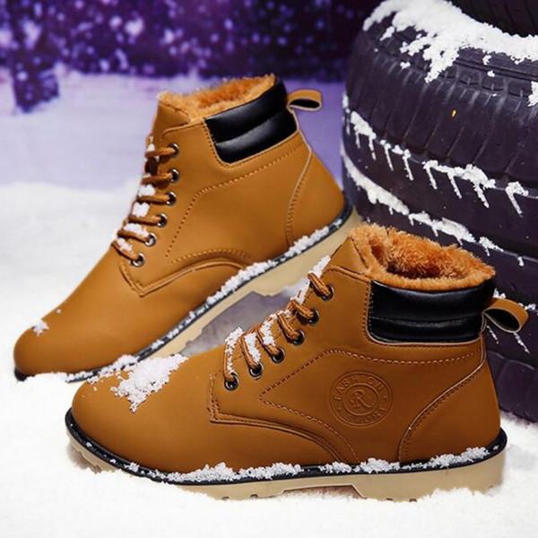 Hommes Bottes D'hiver Hommes Casual Fahsion Neige Hommes Bottines Bottes En Cuir Pour Hommes Chaussures