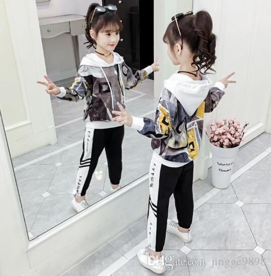 Новый стиль японской девочки Чао Тун Корейский моды толстовки и спортивные штаны производитель прямых продаж