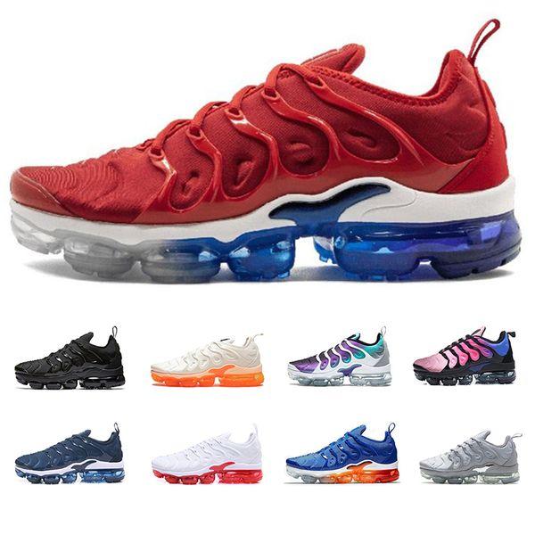 2019 New Tn Plus Running Shoes For Mens Women Triple Black White Orange Trainer Sports Men Athletic Jogging Outdoor Shoe 36-45