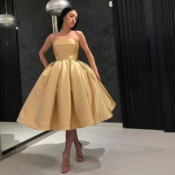 Champagne Gold Cocktail Dress