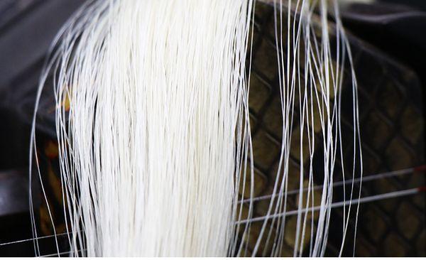 79cm Natural White Horse Hair Erhu Bow Hairs Musical Instrument Parts