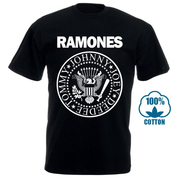 Ramones Sıkıntılı Mühür Punk Tişörtlü Yeni Siyah% 100% Pamuk Boyutları Md 4Xl