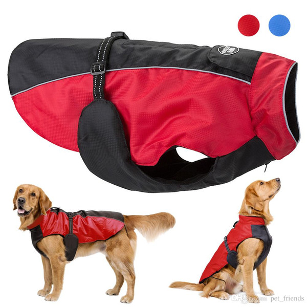 Winter Dog Clothes Waterproof Pet Dog Coat Jacket Big Dog Clothes For Medium Large Dogs Labrador Golden Retriever Clothing 3-5XL