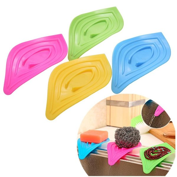 Kitchen Sink Sponge Holder Multifunctional Slip Ring Leaves Soap Box Drain And Clean Soap Dishes