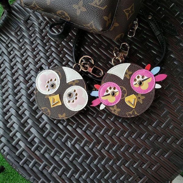 fashion pu leather Love Bird Key Chains Alloy Keychain Animal Jewelry For Women Girls Bag Car Key Chains Gift Pet JO220