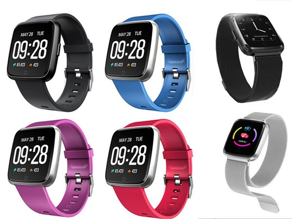 top popular Y7 Smart Bracelet Blood Pressure Oxygen Sport Fitness Tracker Watch Heart Rate Monitor Wristband Pk Fitbit Versa Mi band 3 115 Plus 2020