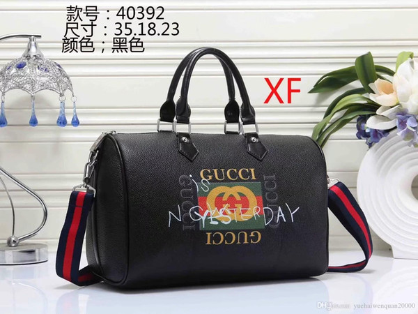 2019 hot new European and American first layer cowhide handbags cowhide handbag shoulder bag fashion tide Messenger bag