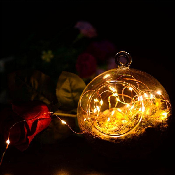 best selling Quick Flash 2M 20LEDs led string CR2032 Battery 1 meter 3M 4M 5M Micro Mini Light Silver Wire Starry For Christmas Halloween Decoration