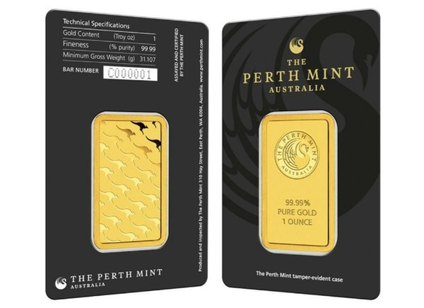 best selling 1 troy OZ gold plated bullion Perth mint Apmex Argor Heraeus Non magnetic Platinium bar business gifts