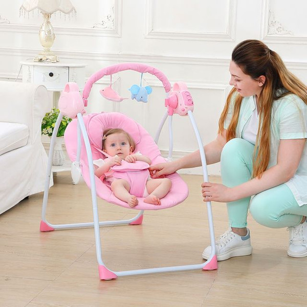 Super Fashion Baby Bouncers Swings Foldable Portable Electric Baby Rocking Chair With Music Safe Baby Sleeping Basket Extra Wide Rocking Chair Outdoor Ibusinesslaw Wood Chair Design Ideas Ibusinesslaworg