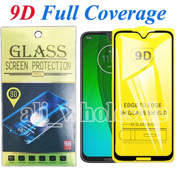9D Full Screen Coverage Ausgeglichenes Glas-Schirm-Schutz für Motorola G7 G6 Plus-Play Power E6 Plus Pixel 4 XL LG Stylo 5 K40, Kleinpaket