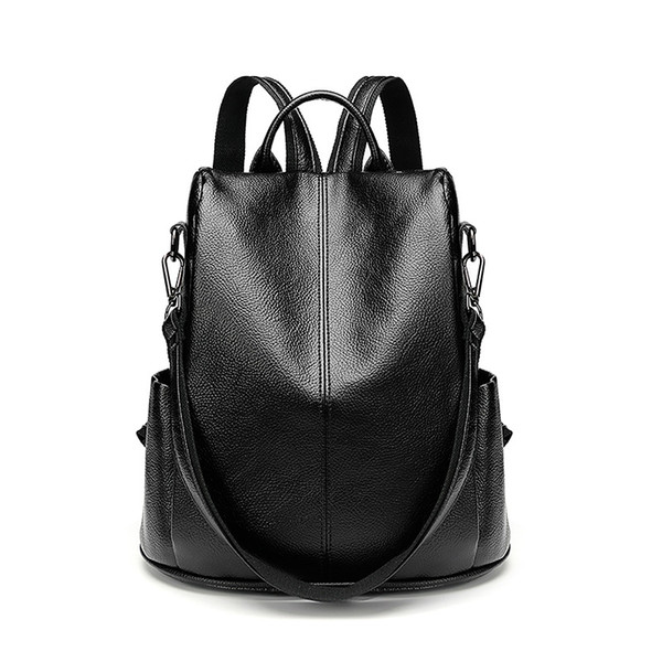 2018 Women Backpacks Leather Female Travel Bagpack Ladies Sac A Dos School Bags For Girls Preppy Style Large Capacity Back C643