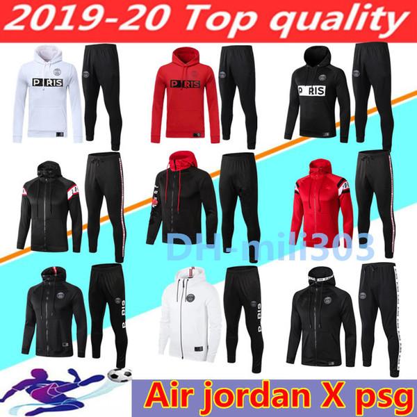 2019 2020 Jordam X Paris soccer jacket tracksuit Survetement 18 19 20 ICARDI MBAPPE sportswear air jordam football jacket Hooded tracksuit