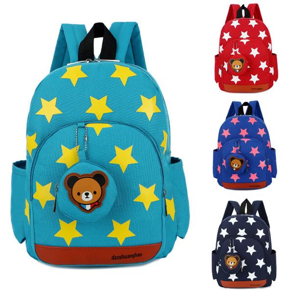 Garçon, personnage, sacs à dos, école, déjeuner, cartables, sacs, sac à dos pépinière de voyage