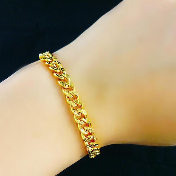 Pulsera colgante Medusa chapada en oro de 24 K 22 cm de largo Cadena de franco cubano de alta calidad Moda estrella Hiphop pulsera brazalete bisutería joyería