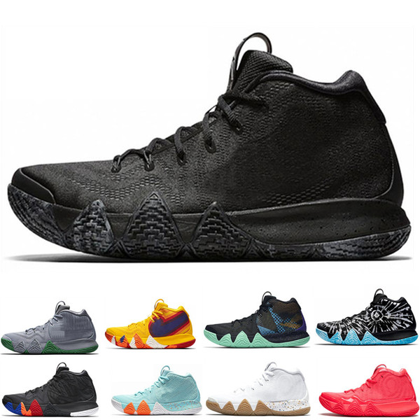 best website aa9aa a6c61 2019 Designer Kyrie Irving 4s Mens Basketball Shoes Uncle Drew Triple Black  Oreo 70s 80s 90s Mamba Mentality Red Carpet 4 Sport Sneaker 40 46 From ...