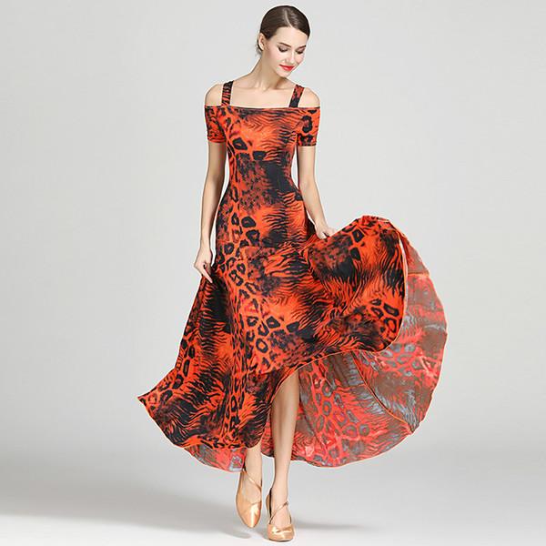 Moderne Frauen Damen Dancewear Waltzing Tango Tanzen Ballsaal Kostüm Mode Party Kleid Tanzabnutzung