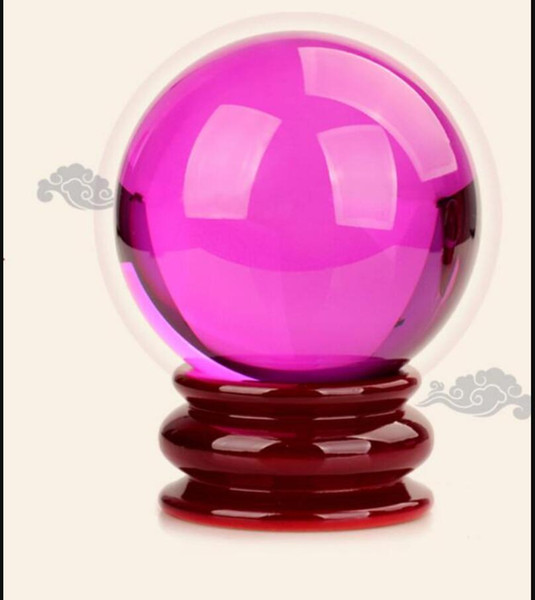 Crystal Huang Feng shui ball ornaments purple crystal ball Home Furnishing balls Home Crafts Ornament 60mm 1pc
