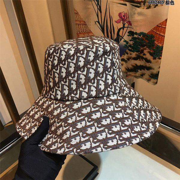Fashion luxury designer Leather Bucket Hat For Mens Womens Foldable Fishing Caps Fisherman Beach Sun Visor Sale Folding Man Bowler Cap