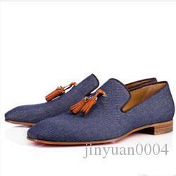 Adam Karahindiba Püskül Sneaker Ayakkabı Kırmızı Alt Oxford Ayakkabı Lüks Erkekler Boş Düz i047 için loafer'lar Ayakkabı On Yeni Parti Elbise Düğün Kayma