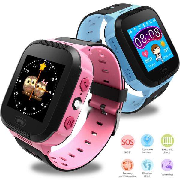 Moda posizionamento bambini sicurezza anti perso intelligente orologio fotocamera bambino illuminazione SOS per IOS Android bambini orologi intelligenti orologi ragazzi