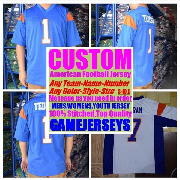 best selling Custom college american football jerseys mens womens youth kids soccer rugby stitched authentic jersey 4xl 5xl 6xl 7xl 8xl Sports clothing