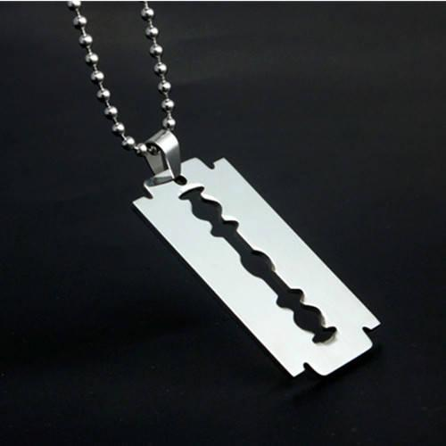 Fashion Razor Blades Pendant Designer Necklaces Men Jewelry Shaver Shape Hip Hop Necklaces Stainless Steel 4 Styles DHgate