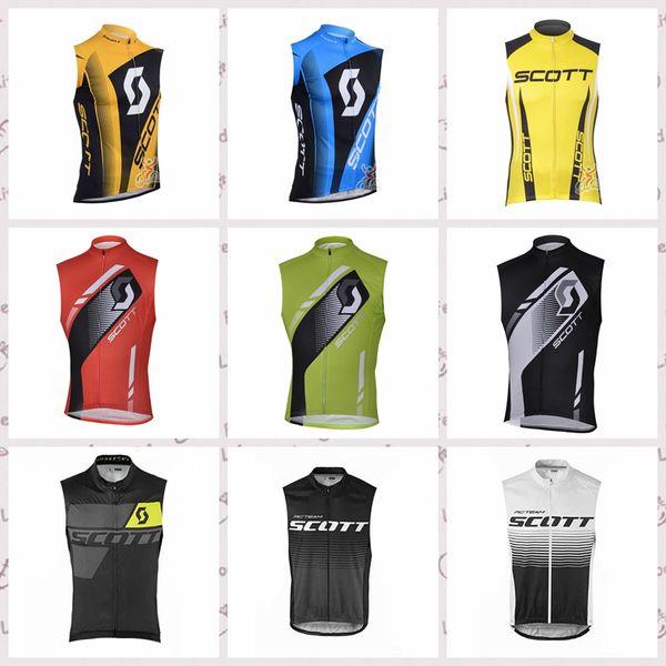 SCOTT team custom made Cyclisme Sans manches maillot Jersey Été coupe-vent confortable et portable sport vêtement de vélo de montagne S6641