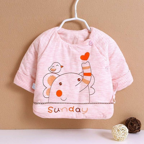 good quality Newborn Baby Warm Sleepwear Baby Boys Girls Casual Rompers Clothing Infant Baby Cotton Thick Jumpsuit Outfits