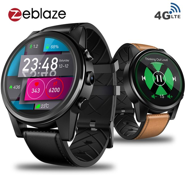 "Zeblaze THOR 4 PRO BT4.0 WIFI 4G Smartwatch Phone 1.6"" Crystal Display 1GB 16GB 600mAh 5MP Camera Heart Rate GPS Smart Watch Men"