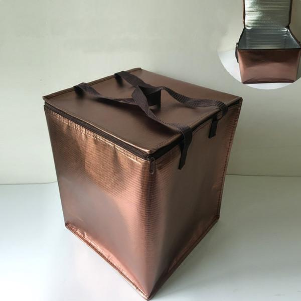 Bolsa grande y portátil plegable Bolsa grande y portátil Bolsas con aislamiento a prueba de agua Paquete de embalaje de hielo Espesar Caja más fría Bolsa de entrega