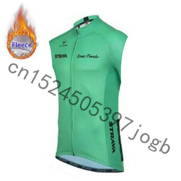 best selling STRAVA Winter Thermal thermal sleeveless Cycling Vest Men Warm Fleece Cycling jerseys  Bicycle Bike Clothing   Gilet ciclismo
