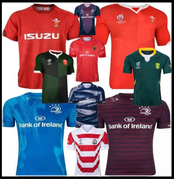 top popular 2019 Japan World Cup Wales rugby jerseys shirt Munster city rugby jerseys new Zealand Leinster alternate shirt Scotland South Africa 2019