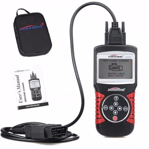 KW820 Car Scanner EOBD OBD2 OBDII Diagnostic Tool Live Code Reader & Scan Tools compliant US, European and Asian vehicle