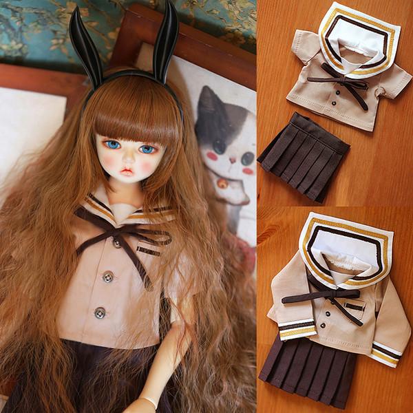 D01-P330 children handmade toy 1/6 1/3 1/4 Doll Accessories BJD/SD doll clothes light tan Sailor uniform set