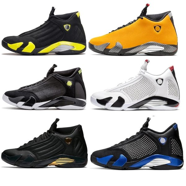 14 xiv oxidized indiglo thunder playoffs black toe red suede 14s men air basketball shoes sneaker last ssport shoes designer trainers